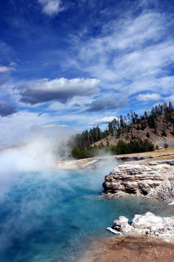 湖上升暖流黄石 库存照片