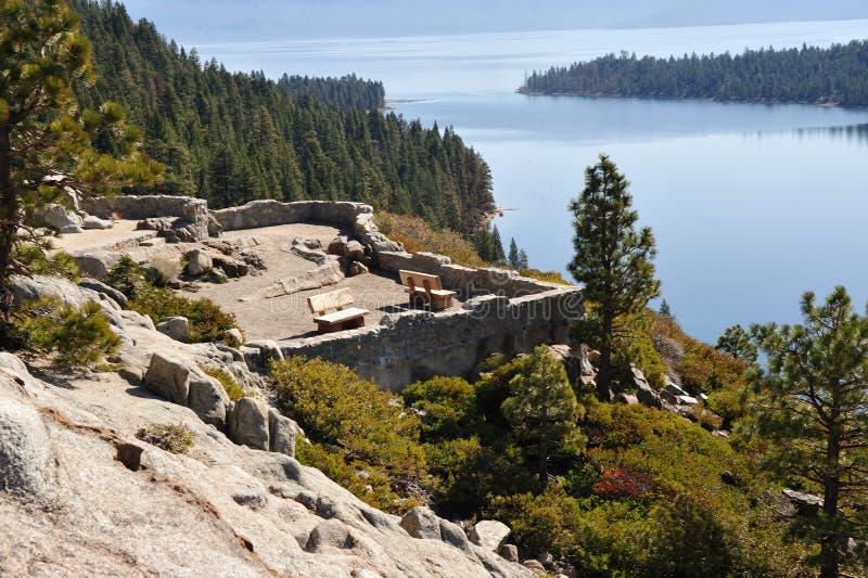 湖俯视风景tahoe 免版税库存图片