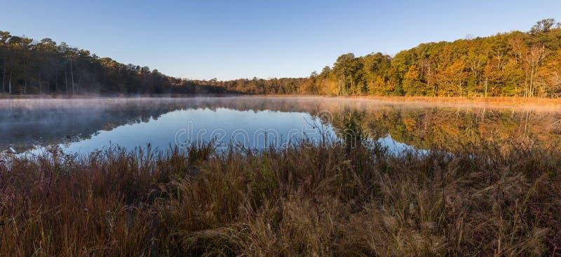 湖全景 库存照片