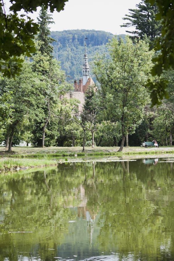 湖公园Schonborn 库存照片