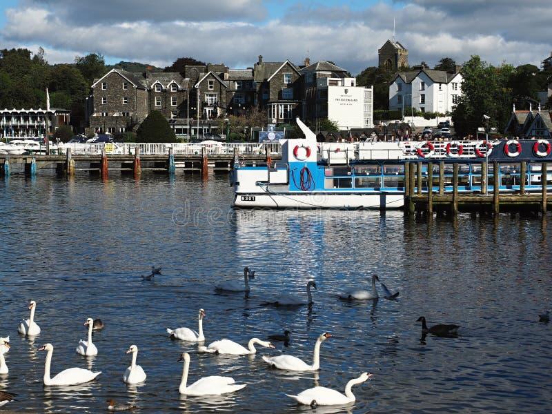 湖区显然是英国s多数普遍的国立公园 免版税库存图片
