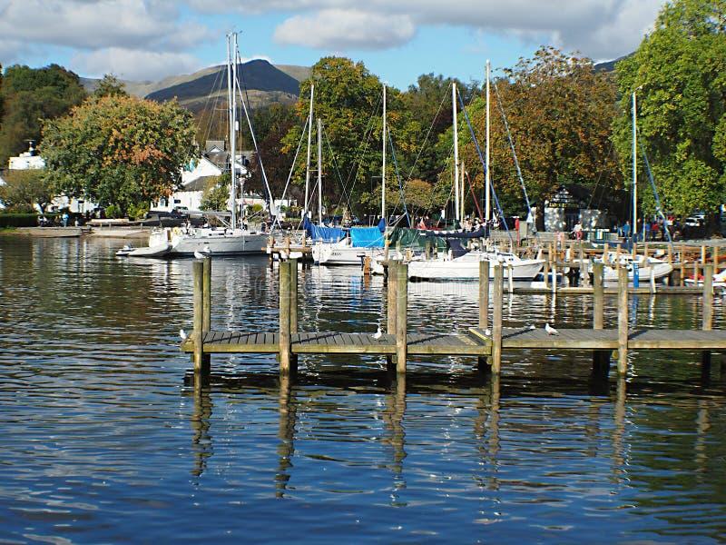 湖区显然是英国s多数普遍的国立公园 免版税库存照片