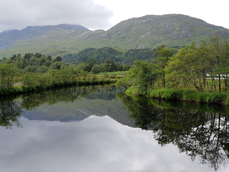 湖和登上,glennfinnian的自然 图库摄影