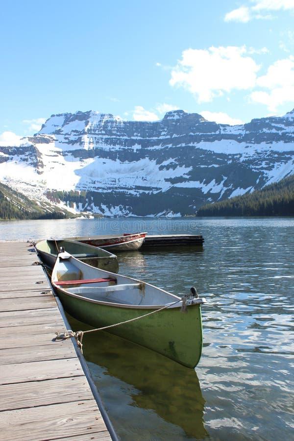 湖喀麦隆在冰川国家公园 库存照片