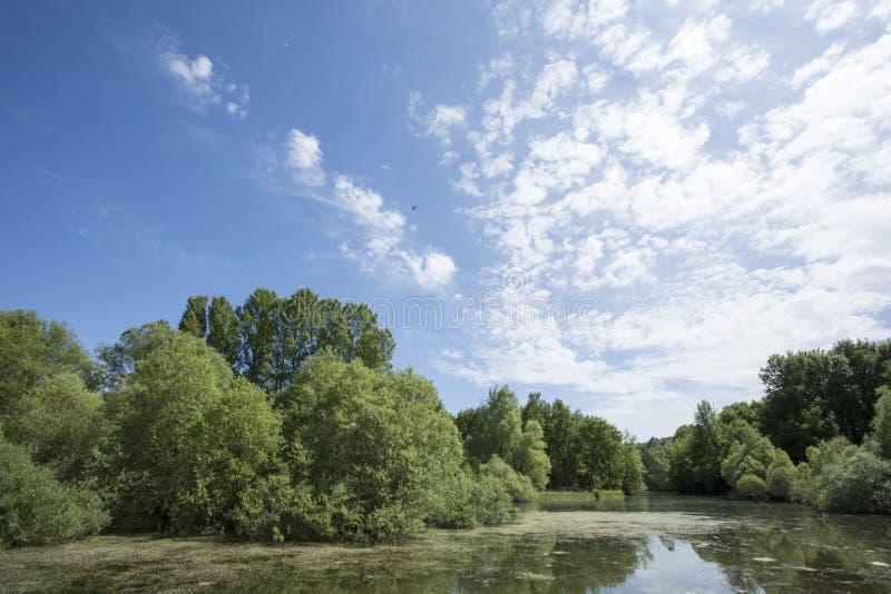 湖圣徒Cassien 免版税库存照片