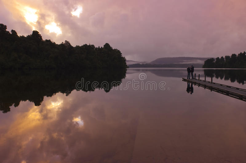 湖在南新西兰 免版税库存照片