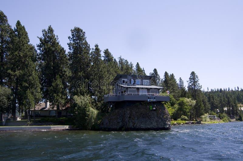湖在斯波肯华盛顿附近的Coeur dAlene爱达荷 免版税库存图片