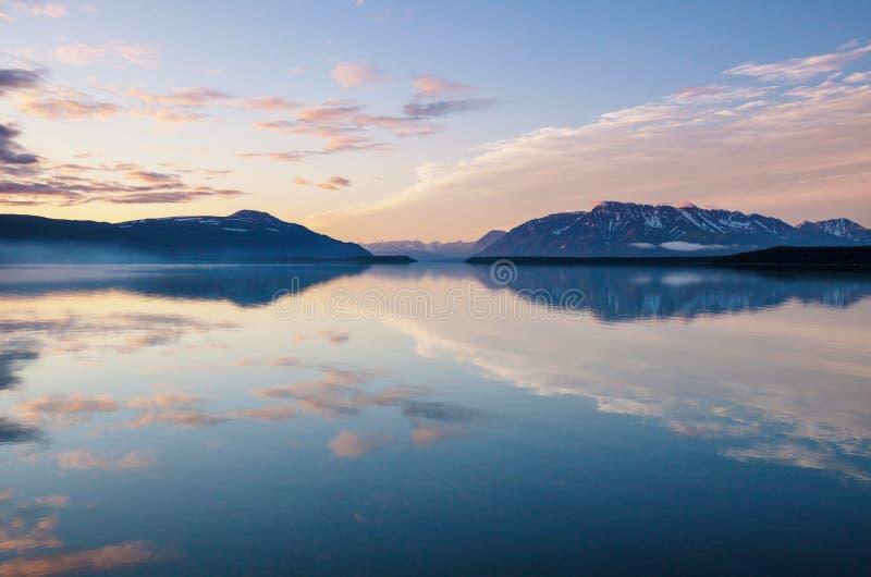 湖在阿拉斯加 免版税库存图片