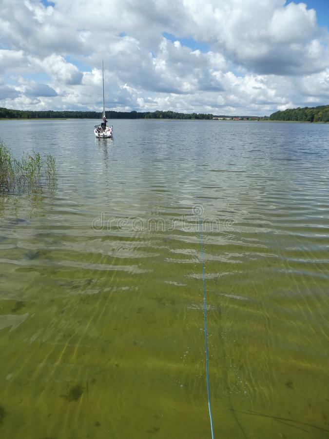 湖在Masuria 免版税库存图片