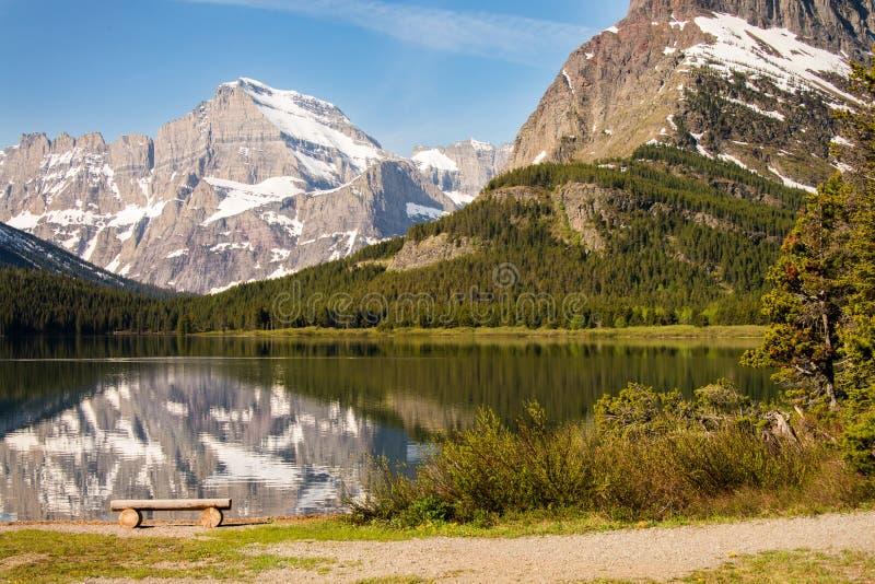 湖山反射 库存图片