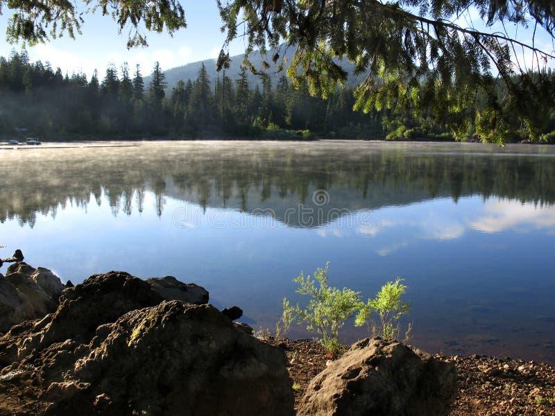 湖山反映 图库摄影