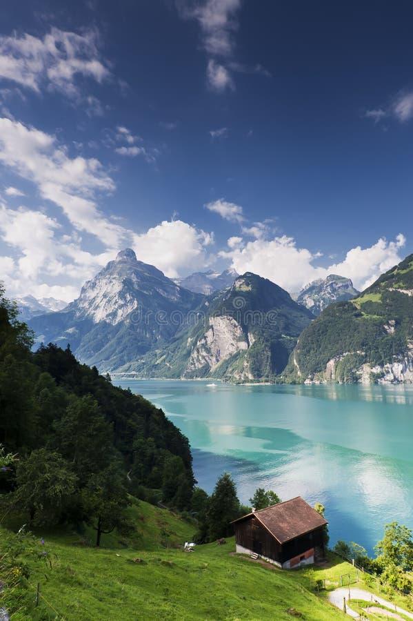 湖山瑞士 免版税库存图片
