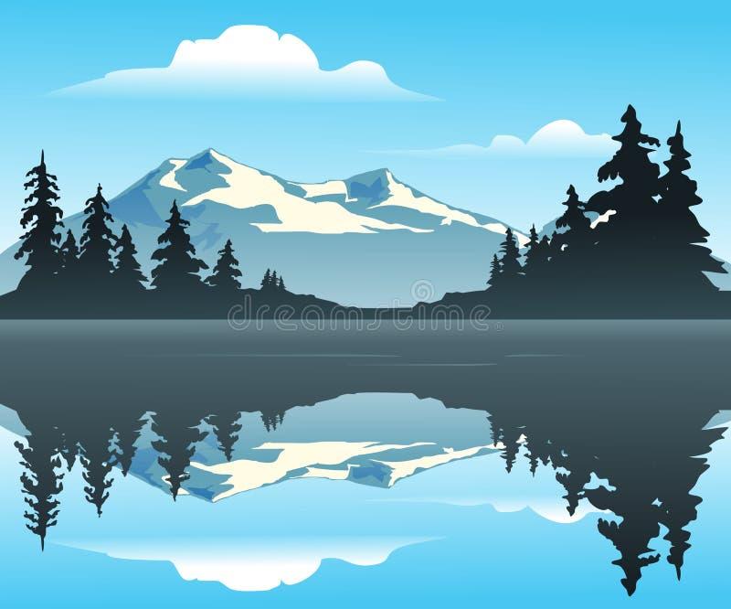湖山 向量例证