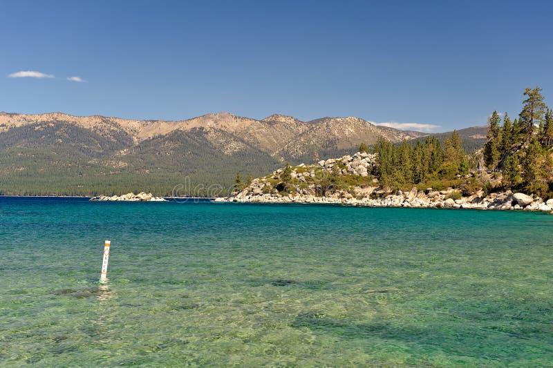 湖山tahoe 库存照片
