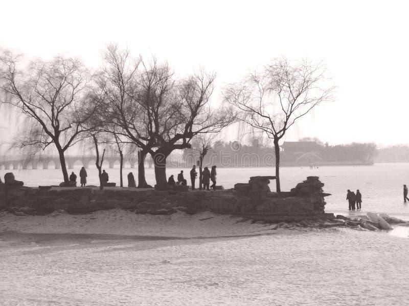 湖岸瓷 图库摄影