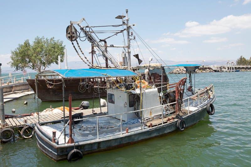 湖提比里亚 库存照片