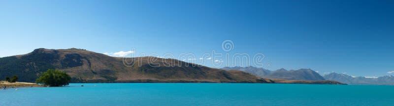 湖新的绿松石西兰 免版税库存照片