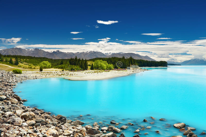 湖新的pukaki西兰 免版税图库摄影