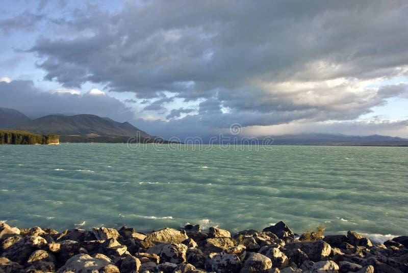 湖新西兰 图库摄影