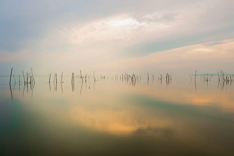 湖是空的 免版税库存图片