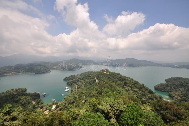 湖月亮星期日台湾 库存照片