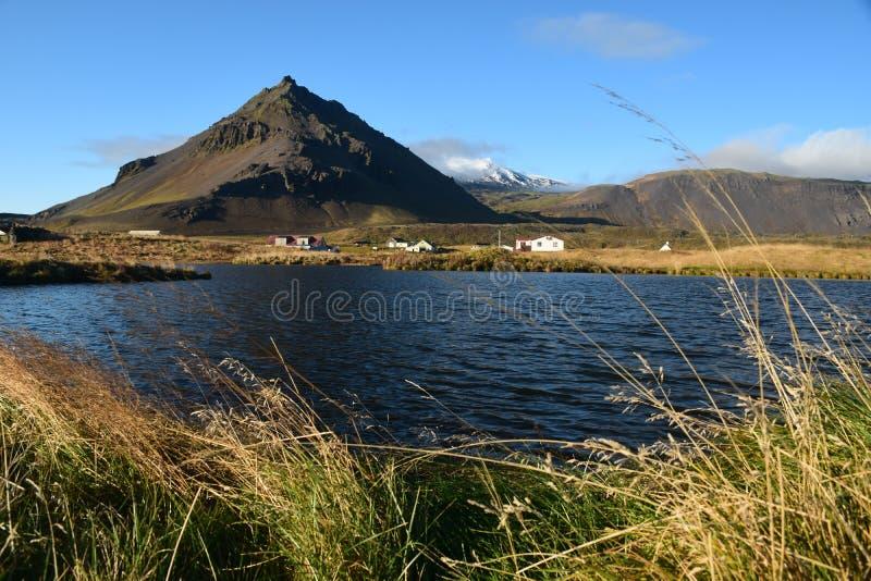 湖有看法 库存照片