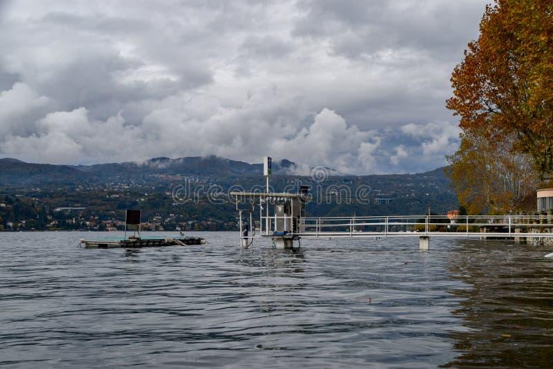 湖洪水 库存照片