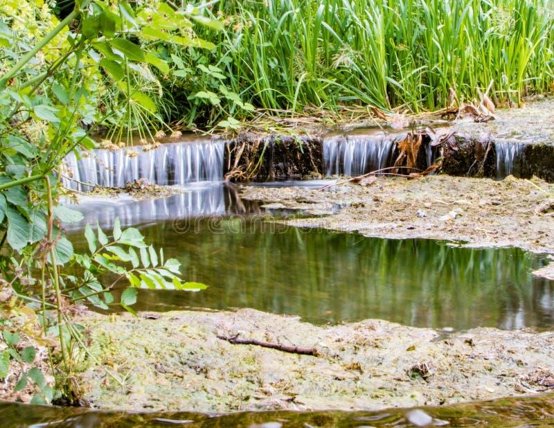 湖溢水管 免版税库存照片