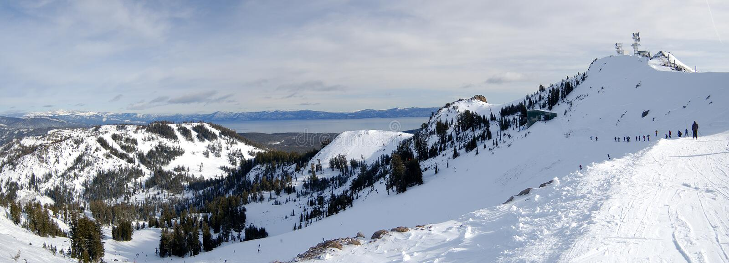 湖滑雪tahoe顶层 免版税库存图片