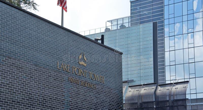 湖点塔,芝加哥,伊利诺伊 免版税库存图片