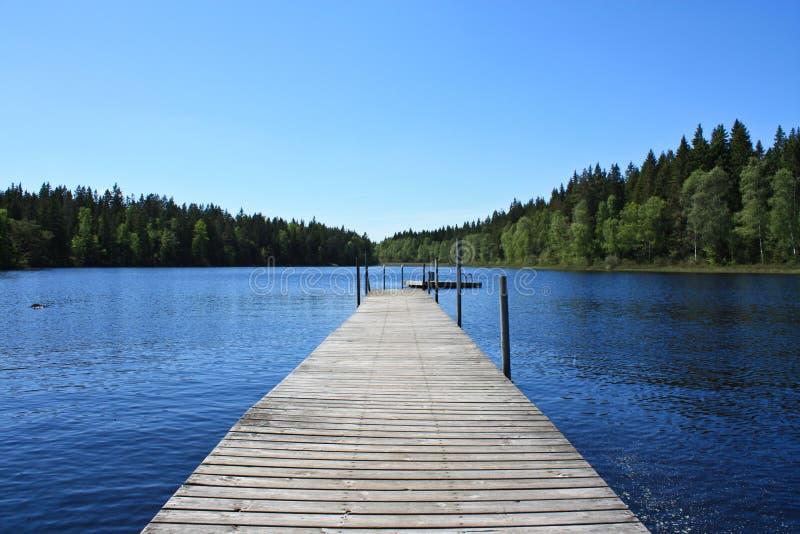 湖瑞典 图库摄影