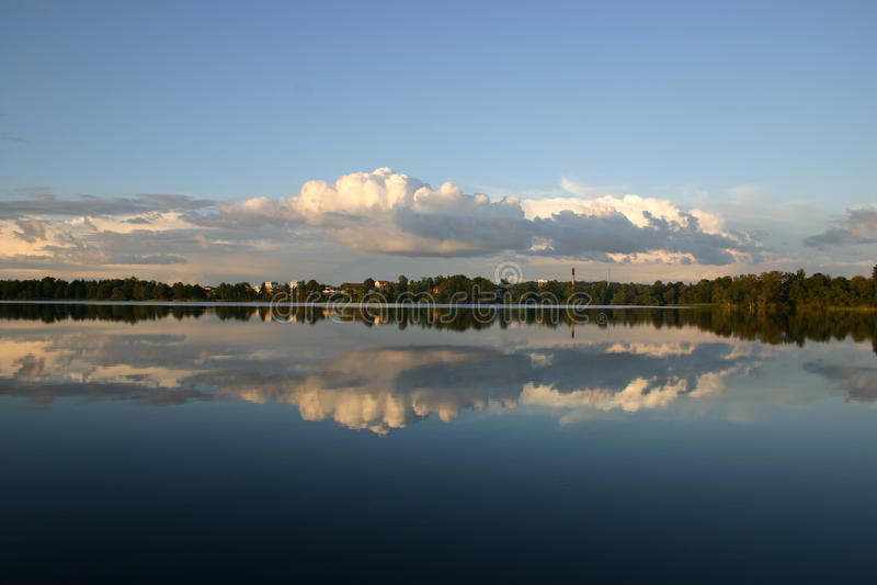 湖瑞典 库存图片