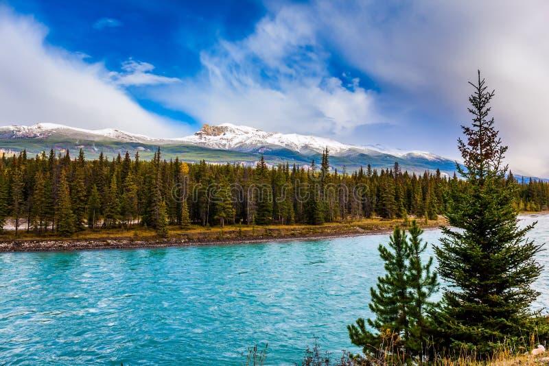 湖用天蓝色的水 免版税库存照片