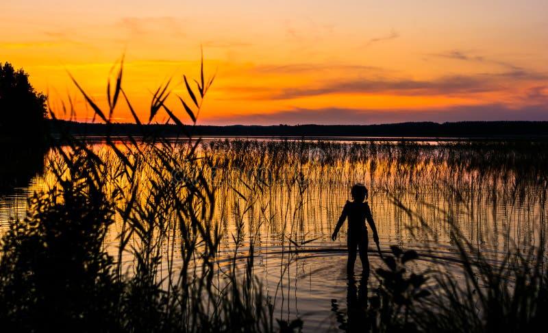 湖的精神 库存图片