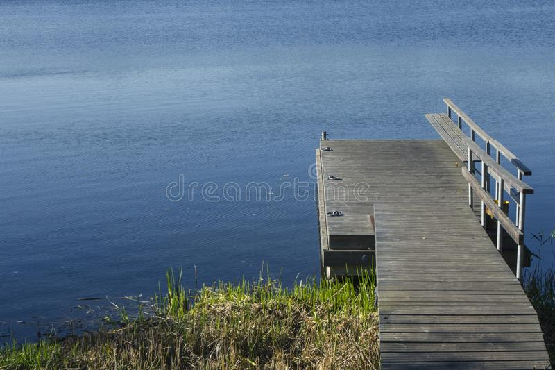 湖的美丽的景色在特拉凯  r 免版税图库摄影