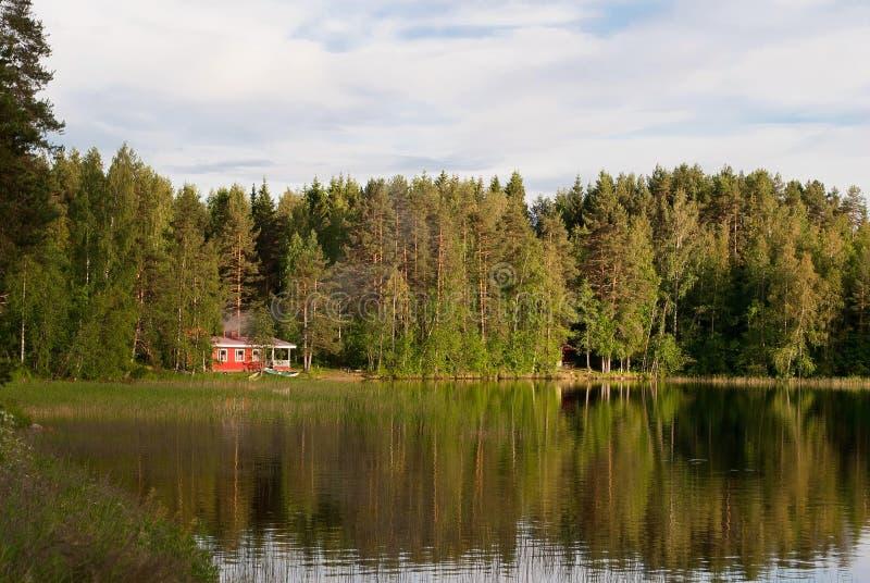 湖的议院 库存图片