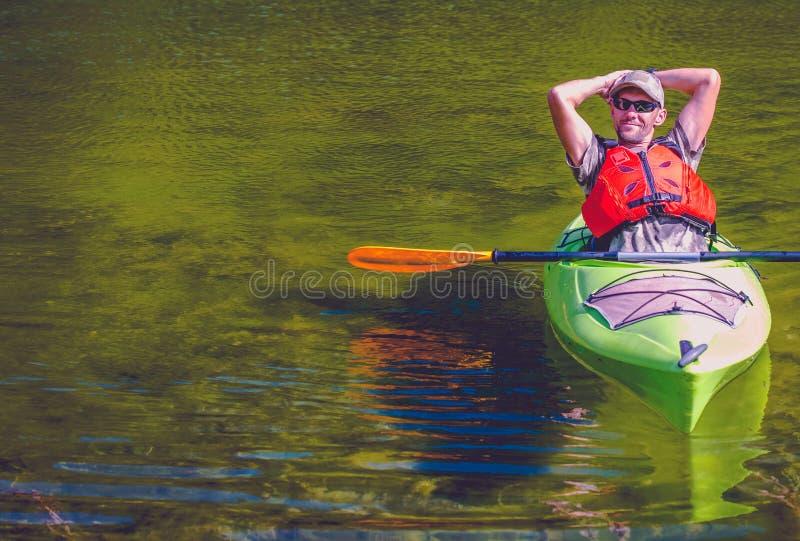湖的轻松的皮艇 库存图片