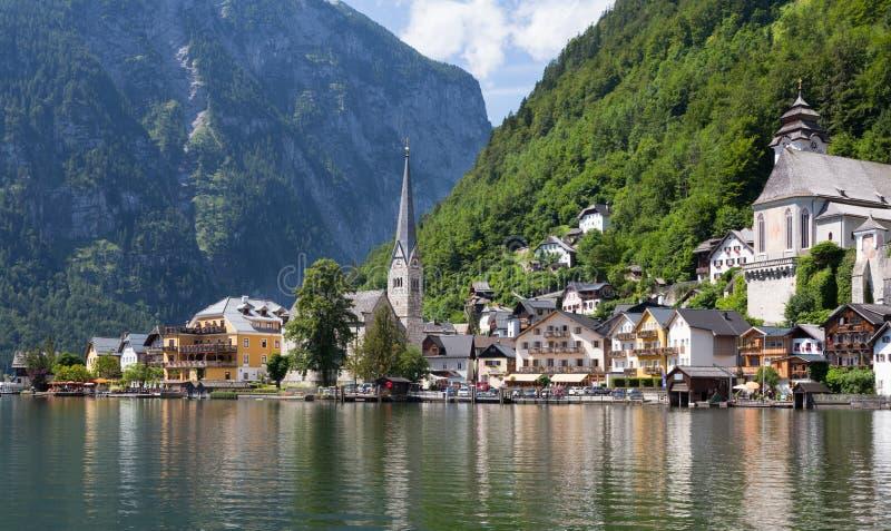 从湖的Halstat奥地利 图库摄影