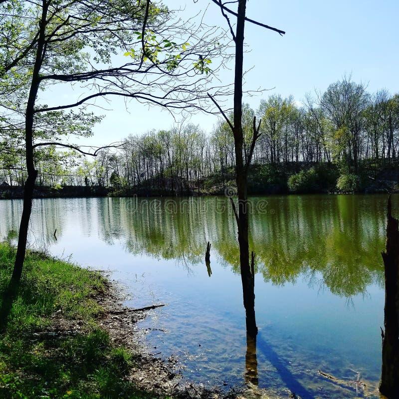 湖看法 免版税库存照片