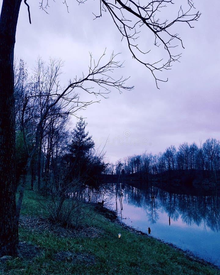 湖看法2 图库摄影
