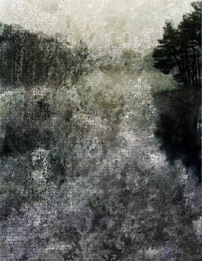 湖绘画 皇族释放例证
