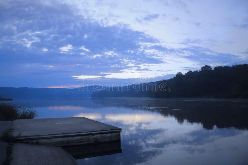 湖船坞 图库摄影