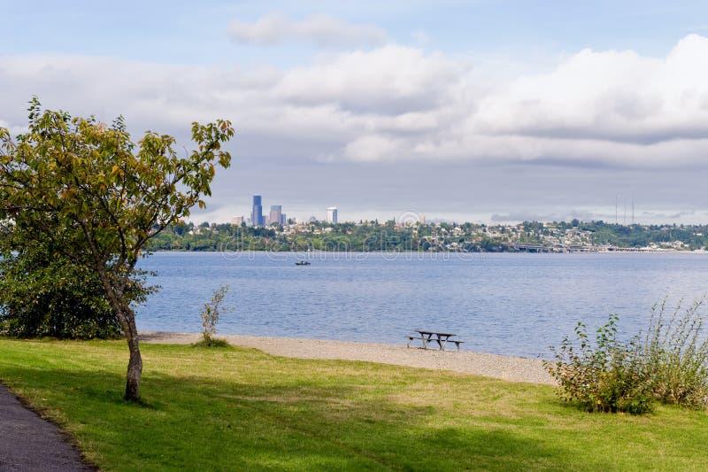 湖西雅图华盛顿 库存图片