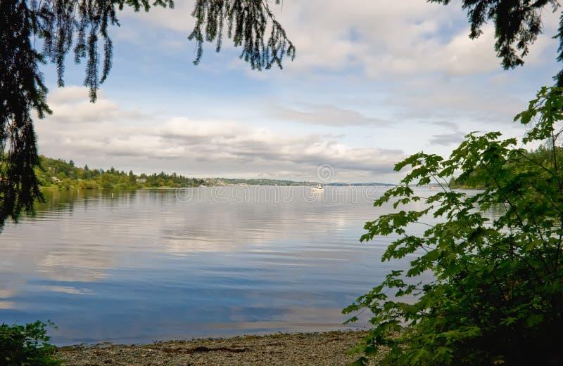 湖西雅图华盛顿 库存照片