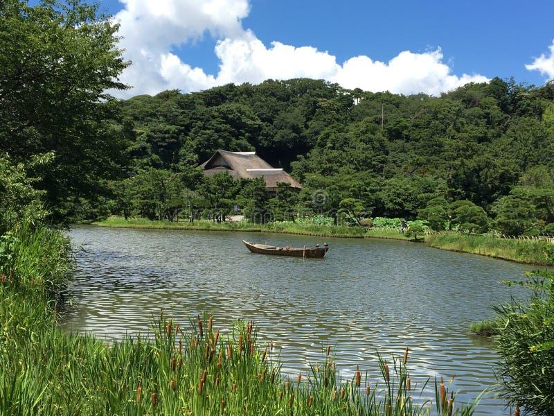 湖视图日本轻率冒险 免版税图库摄影