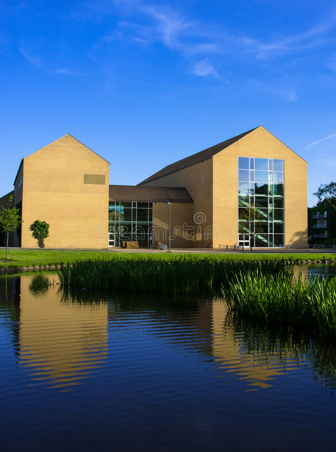 湖边剧院,奥胡斯大学,丹麦(ii) 图库摄影