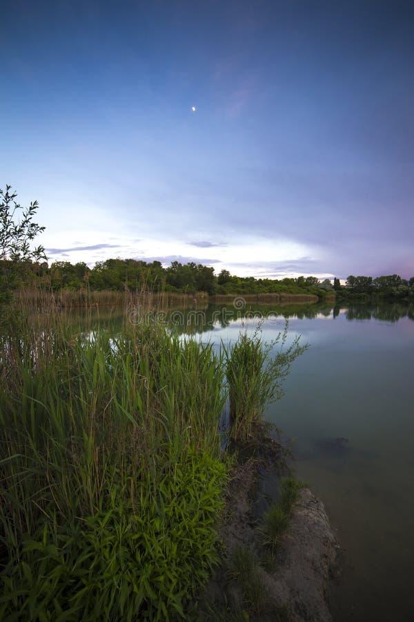 湖边02 库存照片