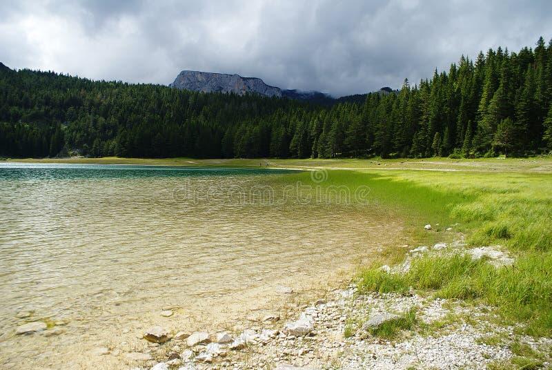 湖风景在黑山 免版税库存图片