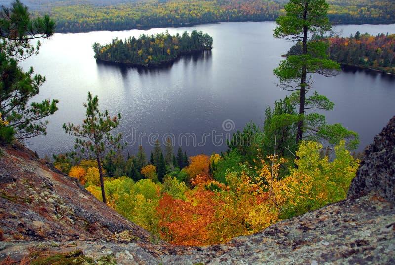 湖风景 库存照片
