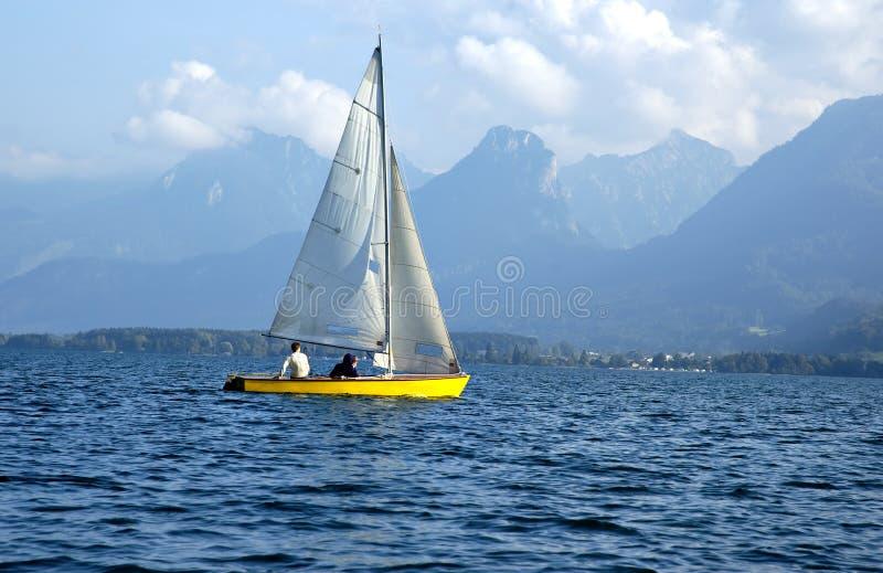 湖风船 免版税图库摄影